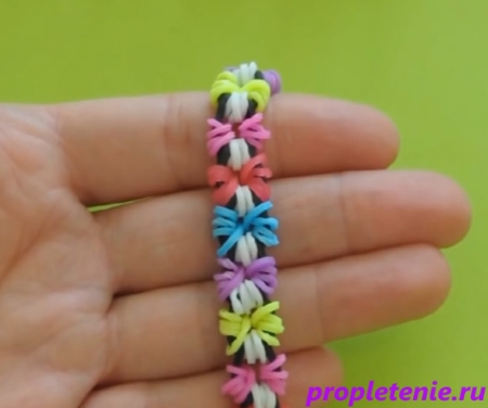 цветок браслет