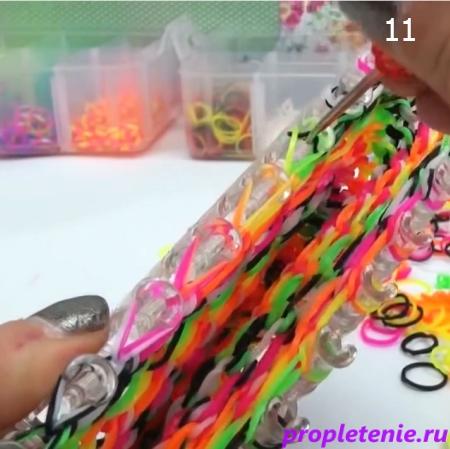 Плетение чехла для телефона из резинок