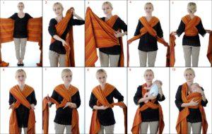 инструкция как завязывать слинг-шарф