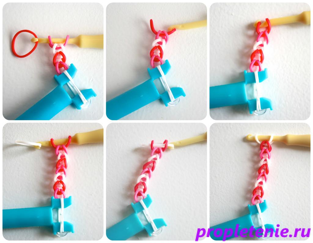 Способы плетения браслетов из резинок на рогатке.